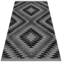 Nowoczesny dywan tarasowy nowoczesny dywan tarasowy ciemne równoległoboki marki Dywanomat.pl