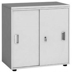 Szafa biurowa z przesuwnymi drzwiami, 740 x 800 x 420 mm, biały