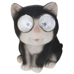 Progarden Lampa solarna 10 cm kot czarny - czarny, kategoria: lampy ogrodowe