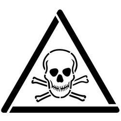 Szabloneria Szablon do malowania znak ostrzeżenie przed materiałami toksycznymi gw016 - 17x20 cm