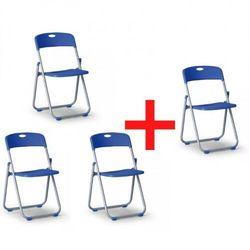 Składane krzesło CLACK 3+1 GRATIS, niebieskie