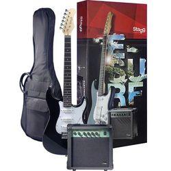 Stagg ESURF 250 BK - gitara elektryczna z wyposażeniem