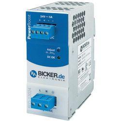 Zasilacz na szynę din  bed-12024 24 v/dc 5 a 120 w 1 x wyprodukowany przez Bicker elektronik