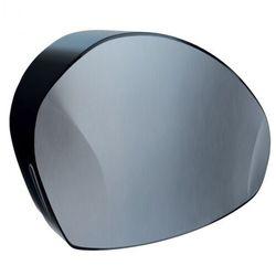 Merida Pojemnik na papier toaletowy mercury, uchwyt na resztkę rolki, czarny