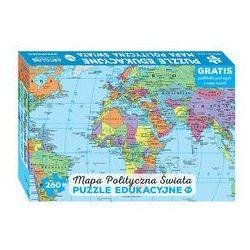 Mapa polityczna świata Puzzle edukacyjne dla dzieci - Dostawa 0 zł - sprawdź w wybranym sklepie