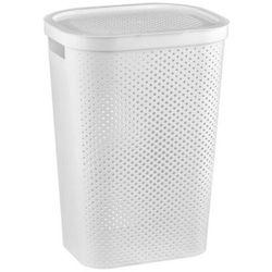 CURVER Kosz na bieliznę INFINITY recycled 60 l biały - DARMOWA DOSTAWA OD 95 ZŁ!