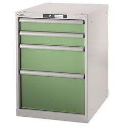 Stół warsztatowy w systemie modułowym, szafka dolna, wys. 800 mm, 4 szuflady, re