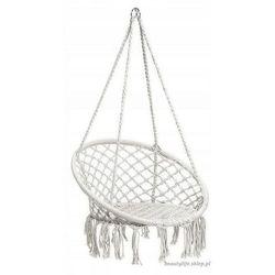 Goodhome Wiszące krzesło brazylijskie białe