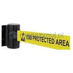 Tensator Rozwijana taśma ostrzegawcza esd + kaseta mini na śruby, zapięcie standardowe (długość 2,3m