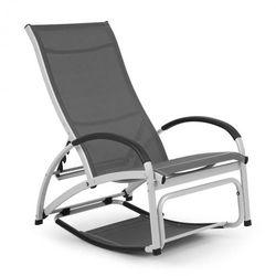 Blumfeldt beverly wood leżak fotel bujany aluminium szary (4060656152900)