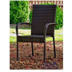Krzesło ogrodowe Friends z technorattanu ciemny brąz