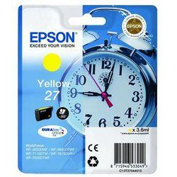 Epson oryginalny ink C13T27044020, 27, yellow, 3,6ml, Epson WF-3620, 3640, 7110, 7610, 7620 (8715946533155)