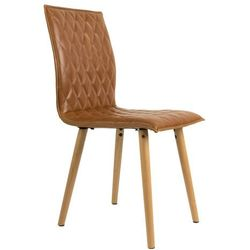 White Label Living Krzesło ANDY brązowe 1100241