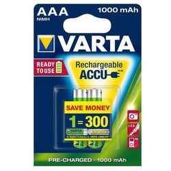 2 x Varta Ready2use R03/AAA 1000mAh (akumulatorek)
