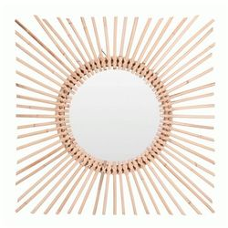 Okrągłe lustro Kioko - naturalne, Lus000078