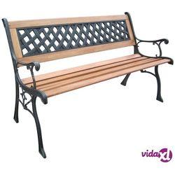 Hi ławka ogrodowa, 126 cm, drewniana