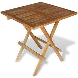stół bistro ogrodowy z drewna tekowego marki Vidaxl