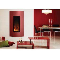 Kominek Studio 22 Verve z czerwonym frontem - wiszący na ścianie - kolor przedniego panela do ustalenia, STOVAX 22 VERVE