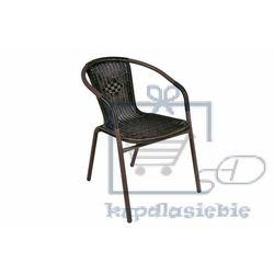 Krzesło ogrodowe Bistro rattanowe - czarne z brązową strukturą