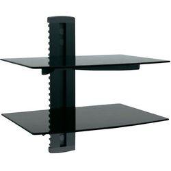 Uchwyt ścienny z dwoma półkami Manhattan 460767, Aluminium, Szkło, Czarny - produkt z kategorii- Uchwyty i ramiona do TV