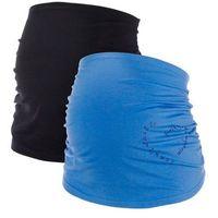 Bonprix Pas ciążowy na brzuch (2 szt.)  średni niebieski + czarny