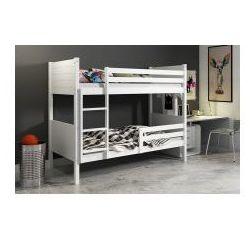 Łóżko piętrowe clir białe 90 x 200 z materacami marki 30
