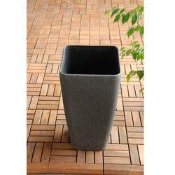 Ogrodowa donica plastikowa wysoka wazon mokka m od producenta Ogrody leandro