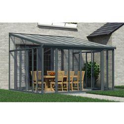 Palram Ogrody zimowe z drzwiami przesuwnymi veranda sanremo 4 x 4,25 m szare (7290108133516)