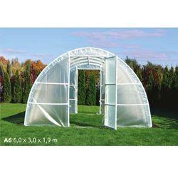 Tunel foliowy A6 6x3x1,9m UV4 z wgrzanymi sznurkami