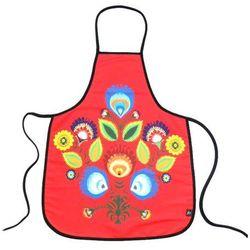 Pracownia artystyczna Fartuszek kuchenny z nadrukiem ludowym - kwiaty łowickie (6)