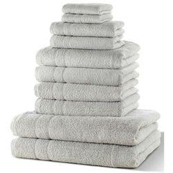 """Komplet ręczników """"New Uni"""" (10 części) bonprix szary"""