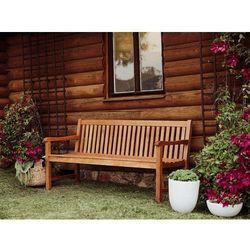 Drewniana ławka ogrodowa 180 cm java marki Beliani