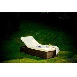 Leżanka ogrodowa z technorattanu esigente marki Bello giardino