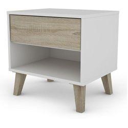 Skandynawska szafka nocna Christian z jedną szufladą