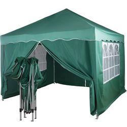 Instent ® Ekspresowy zielony pawilon namiot ogrodowy 3x3m + 4 ścianki - zielony (30030335)
