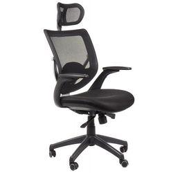 Fotel biurowy gabinetowy KB-8904/CZARNY - krzesło obrotowe