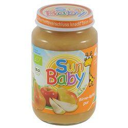 4 mc deser gruszka - jabłko bezglutenowy bio 190 g - sun baby od producenta Sun baby (baby sun) - (dla niemow