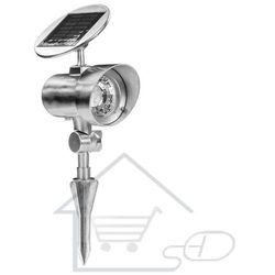 1 Lampa solarna na baterie słoneczne ze stojakiem