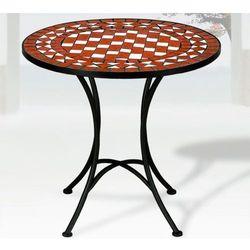 Metalowy stół z mozaiką ogrodowy na ogród bistro, marki Wideshop