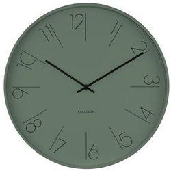 :: zegar ścienny elegant numbers ciemnozielony marki Karlsson