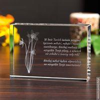 Żonkil 3D ♥ personalizowana statuetka 3D • GRAWER 3D, towar z kategorii: Na Dzień Kobiet dla żony