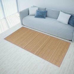 Vidaxl Brązowy, prostokątny dywan bambusowy, 200 x 300 cm