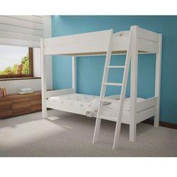 Białe łóżko piętrowe Leo F50