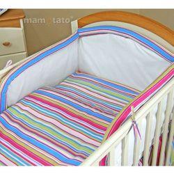 MAMO-TATO pościel 2-el Paseczki amarantowe do łóżeczka 70x140cm z kategorii komplety pościeli dla dzieci