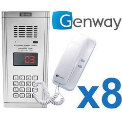 Genway Zestaw domofonowy 8 rodzinny wl-03nl