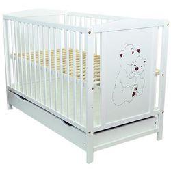 Łóżeczko niemowlęce z szufladą bajka dwa misie marki Skrzat