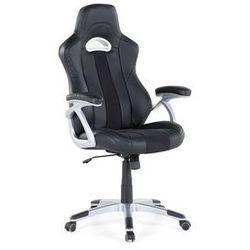 Beliani Krzesło biurowe czarne - obrotowe - skóra ekologiczna - adventure