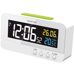 SENCOR zegar cyfrowy z budzikiem SDC 4800 W, kolor biały
