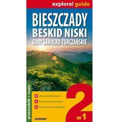 Bieszczady, Beskid Niski, Góry Sanocko-Turczańskie 2 w 1- przewodnik + mapy, pozycja wydawnicza