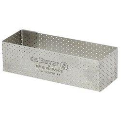 Rant piekarniczo-cukierniczy prostokątny perforowany - 12x4 cm marki De buyer